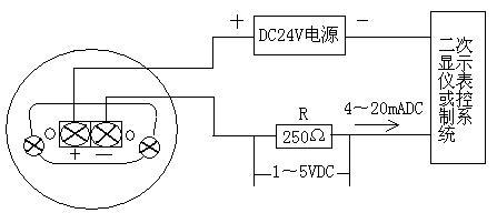 b0805型投入式液位变送器接线图