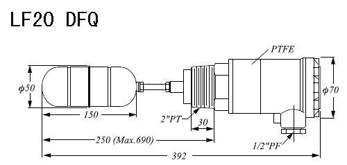供应lf系列侧装式浮球液位开关