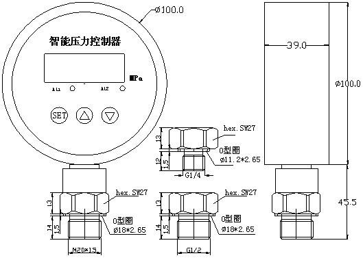 该产品为全电子结构,前端采用带隔离膜充油压阻式压力传感器,由高精度